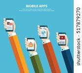 concept for mobile apps  flat... | Shutterstock .eps vector #517879270