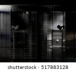 grunge photograph of louvered... | Shutterstock . vector #517883128
