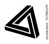 penrose triangle design element | Shutterstock .eps vector #517883194
