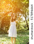 happy woman smile | Shutterstock . vector #517896664