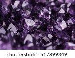 amethyst geode on black... | Shutterstock . vector #517899349