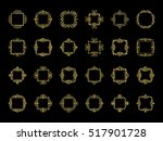 gold vintage decor elements and ... | Shutterstock .eps vector #517901728