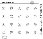 recreation flat icon set.... | Shutterstock .eps vector #517902274