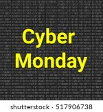 cyber monday background with... | Shutterstock .eps vector #517906738
