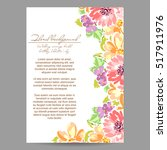 invitation with floral... | Shutterstock .eps vector #517911976