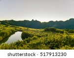 Small photo of Panoramic View of Daba Peaks and Holy Ridge at Sunrise from The Peak of Jiali Mountain, Daba Trail, Shei-Pa National Park, Taiwan