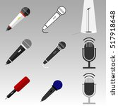 a set of microphones  realistic ...   Shutterstock .eps vector #517918648