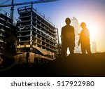 silhouette businessman engineer ...