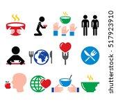 hunger  starvation  poverty... | Shutterstock .eps vector #517923910