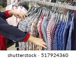 selection of women's clothing... | Shutterstock . vector #517924360