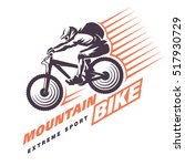 mountain bike trials. sport... | Shutterstock .eps vector #517930729