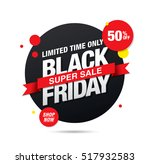 black friday sale banner | Shutterstock .eps vector #517932583