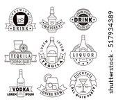 alcohol drinks emblems  badges  ... | Shutterstock . vector #517934389