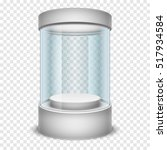empty glass shop cylinder... | Shutterstock . vector #517934584
