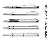 blank and metallic pens... | Shutterstock . vector #517934686