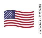 american waving flag raster... | Shutterstock . vector #517936789