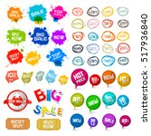 sale labels set. vector tags ... | Shutterstock .eps vector #517936840