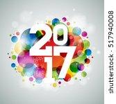happy new year celebration... | Shutterstock . vector #517940008