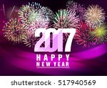 happy new year 2017 with...   Shutterstock .eps vector #517940569