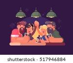 friends relaxing at bar   Shutterstock .eps vector #517946884