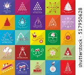 christmas icon set isolated on... | Shutterstock .eps vector #517950628