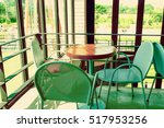 chairs and table  empty  in... | Shutterstock . vector #517953256