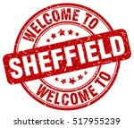 welcome to sheffield. stamp. | Shutterstock .eps vector #517955239