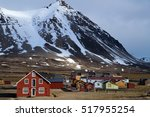 ny alesung in the svalbard... | Shutterstock . vector #517955254