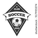 soccer logo template  emblem... | Shutterstock . vector #517955374