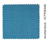 a blue fabric swatch with zig... | Shutterstock . vector #517958368