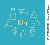 dairy banner with milk products ... | Shutterstock .eps vector #517959628