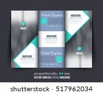 a4 document and brochure ... | Shutterstock .eps vector #517962034
