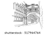 bridge of sighs   ponte dei...   Shutterstock .eps vector #517964764