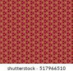 gold cubes on red. optical... | Shutterstock .eps vector #517966510