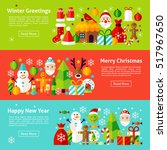 christmas holiday web... | Shutterstock .eps vector #517967650