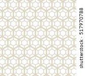 hexagonal grid design vector... | Shutterstock .eps vector #517970788