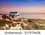cyprus  mediterranean sea coast.... | Shutterstock . vector #517974658