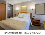 interior of a new hotel bedroom ... | Shutterstock . vector #517975720