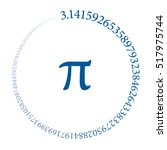 the first hundred digits of the ... | Shutterstock .eps vector #517975744