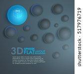 3d spheres flat layout... | Shutterstock .eps vector #517976719