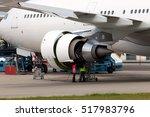 engine of passenger jet... | Shutterstock . vector #517983796