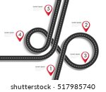 road trip and journey route.... | Shutterstock .eps vector #517985740