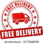 illustration of free delivery... | Shutterstock .eps vector #517988098
