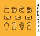popcorn bucket minimalistic... | Shutterstock .eps vector #517995544