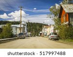 downtown of  dawson city  ... | Shutterstock . vector #517997488