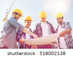 business  building  teamwork... | Shutterstock . vector #518002138