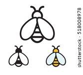 Honey Bee Icon. Vector...