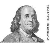 franklin portraits of america... | Shutterstock . vector #518014468