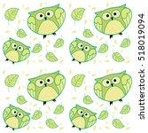green owls     Shutterstock .eps vector #518019094