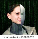 robot and human | Shutterstock . vector #518023690